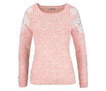 Pullover »Blumen Spitze« orange
