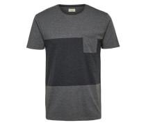 O-Ausschnitt- T-Shirt grau / anthrazit