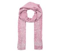 Schal mit Sternchenmuster pink