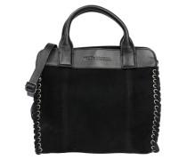 Handtasche mit Schnürung schwarz