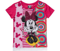Disney Minnie Mouse T-Shirt mit Pailletten für Mädchen pink