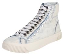 Sneaker High mit Nieten 'Mustave' blue denim