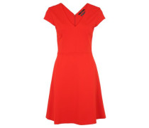 Kleid mit V-Ausschnitt rot
