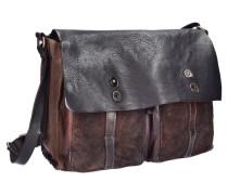 Castagno Messenger Leder 37 cm braun / schwarz
