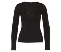 Pullover mit Schnürung schwarz