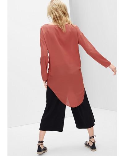 s oliver damen s oliver elegante long style bluse rot reduziert. Black Bedroom Furniture Sets. Home Design Ideas