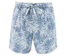 Smart Bermuda: Shorts mit Leinen hellblau / weiß