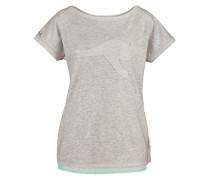 Shirt »Chiffon Einsatz« grau