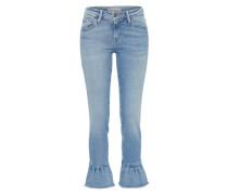 Skinny Jeans 'Mid Frill' blue denim