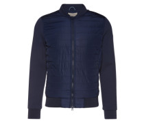 Jacke mit gesteppter Front dunkelblau