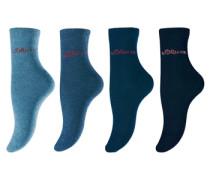 Socken (4 Paar) blau