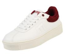 Sneaker 'Templo' weinrot / weiß