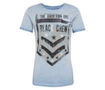 T-Shirt 'MT Crew round' hellblau / grau / schwarz