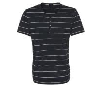 T-Shirt mit Streifenmuster blau / weiß