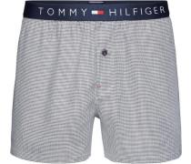 Unterwäsche 'woven Boxer Houndstooth' navy / naturweiß