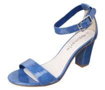 Sandalette in Lack-Optik blau