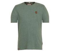 T-Shirt In der Genitalunion grünmeliert