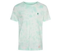 T-Shirt 'frank' hellgrün / türkis