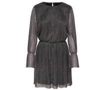 Detailreiches Kleid mit langen Ärmeln schwarz
