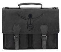 Valencia Aktentasche Leder 39 cm schwarz