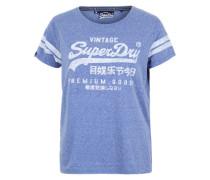 T-Shirt 'Premium goods' blau