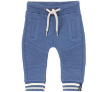 Jogginghose Gonars blau / naturweiß