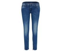 Schmale Jeans mit Ankle-Zipper 'Cher' blue denim