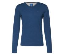 Pullover 'basic v-neck' indigo
