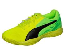 Veloz Indoor III Handballschuh Kinder gelb / neongrün