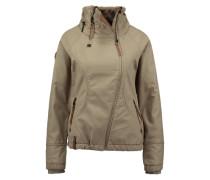 Jacke mit asymmetrischen Zipper beige