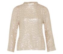 Shirt mit Seide 'Lia' beige / silber