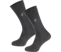 Larsen 2 Paar Socken basaltgrau