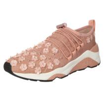 Sneaker 'Miss Lace' mit Spitzen-Verzierungen rosa / weiß