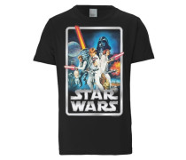 """T-Shirt """"Krieg der Sterne"""" mischfarben / schwarz"""