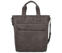 'Enzo' Shopper Tasche Leder 42 cm grau / stone