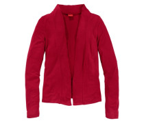 Shirtjacke in verschlussloser Form rot