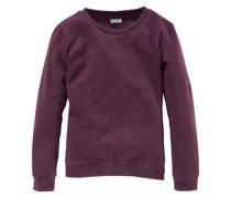 Sweatshirt mit klassischem Rundhalsausschnitt für Mädchen bordeaux