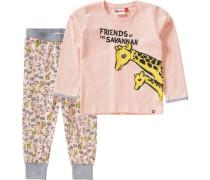 Baby Schlafanzug Naja für Mädchen rosa