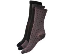 Socken 3er-Pack Socken dunkellila / schwarz