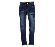 Destroyed-Jeans blau