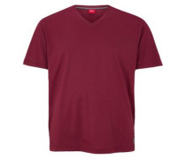 T-Shirt mit V-Neck pink