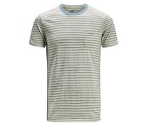 Gestreiftes T-Shirt blau / hellgrau
