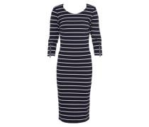 Jerseykleid 'garstripe' navy / weiß