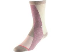 Sneakersocken Damen hellgelb / mischfarben / rosa