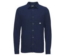 Detailliertes Karo-Freizeithemd blau