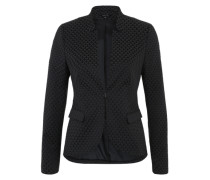 Blazer mit All Over-Dessin blau