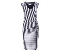 Jerseykleid 'Nanna' marine / weiß