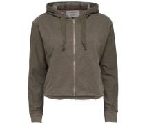 Sweatshirt Kurz geschnittenes beige / braun
