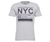 Printed Shirt grau / schwarz