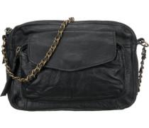 Ps Naina Leather Cross Over Bag Umhängetasche schwarz